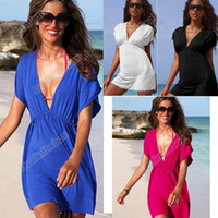 Wholesale New Women Sexy Nylon Swimwear Bikini Cover Up Beach Dress