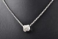Wholesale Glittering jewelry diamond necklace silver necklaces