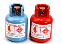 Wholesale 2pcs Gas Cylinder Design Money Box Saving Coin Bank New