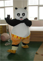 Wholesale fast shipping Mascot Costume Kung Fu Panda Cartoon Character Costume Adult Size and retail