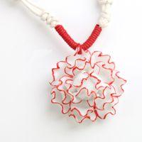 Women's Porcelain Pendant Necklaces Floral Porcelain Necklaces Wholesale Mix Style Chinese Hand Painted Women Jewelry 10pcs Free