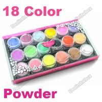 Wholesale 18 Color Acrylic Powder Dust For Nail Art Tips Makeup Set