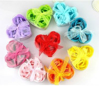 Wholesale washing cleaning bath rose Flower paper petals soap gift organtic wedding favor mulit box pc box