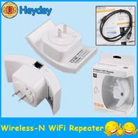 achat en gros de répéteur sans fil uk-Prise en charge WLAN Routeur sans fil de mode AP 300Mbps Répéteur Wifi Amplificateur de gamme 802.11N US EU AU UK Plug