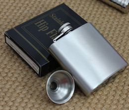 Wholesale 3oz stainless steel hip flask with funnel flask pocket flask wine flask liquor flask flachmann Lead free passed FDA test