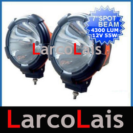 "2pcs 7 inch 7"" 12V 55W HID Xenon Driving Offroad Work Spot Flood Lights for SUV JEEP Light"