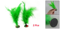 Wholesale 2 Green Feather Chinese Jian Zi Game Shuttlecocks