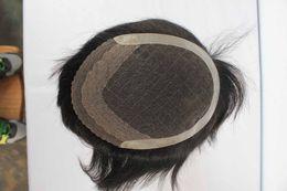 Wholesale Indian remy human hair men toupee Swiss lace base hot sale
