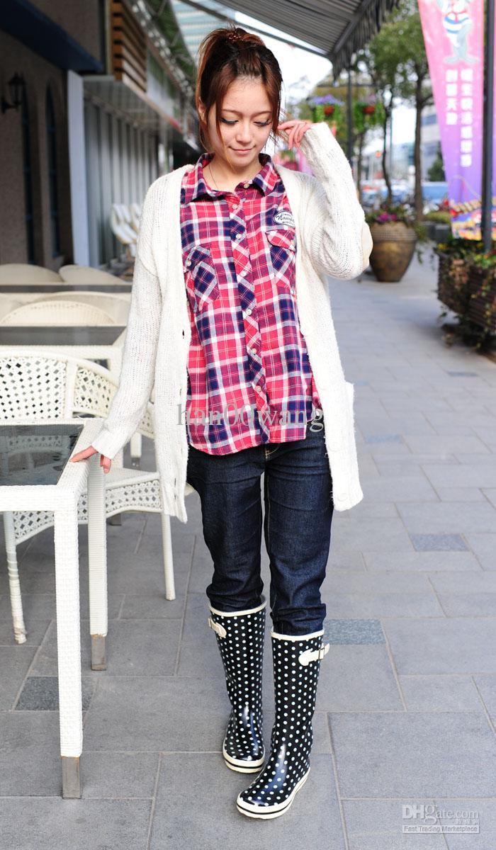 Wholesale - Women's rubber rain boots, lady's fashion rain boots, 2012