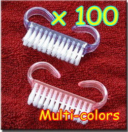 Wholesale 100pcs New Nail Art Cleaning Clean Soft Tool Remove Dust Angle Nail brush Care Manicure Pedicure