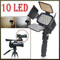 Wholesale 10 LED W Video Light Lighting for Camcorder Camera battery amp charger