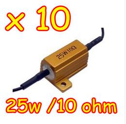 Las luces de carga en venta-100pcs / lot 25W 10 Ohm resistencia de carga LED para el arreglo del coche del turno señal luminosa / antiniebla / luz corriente