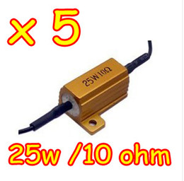 Wholesale 5pcs W Ohm LED load resistor For Car Fix Of TURN SIGNAL Light FOG Light RUNNING Light