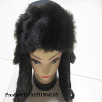 Wholesale 15Pieces Black Fox Fur Lei Feng Hat Winter Fashion Hat Cap Woman Cap Apparel NEW STYLE
