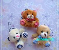 Wholesale Best price lovely teddy bear mobile phone pendant hang adorn wedding stuffed toys Plush toys