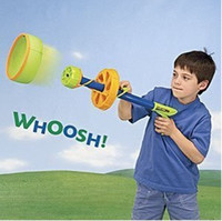 Gift Toy Easter EVA Zingtoy Air Zyclone Ring Blaster Sports Flying Ring EVA Space Gun Toys Outdoor Shooter FAMILY FUN