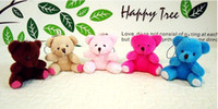 Wholesale hot color lovely teddy bear mobile phone pendant hang adorn wedding small Promotional gifts