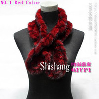 Wholesale 100 Genuine Fur Mink Scarf Weaving Fur Scarf