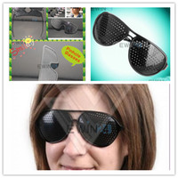 Wholesale Black Pinhole Glasses Vision Eyesight Improve Eyes Exercise New and High Quality easy to carry