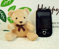 Wholesale hot cm lovely teddy bear mobile phone pendant hang adorn wedding small Promotional gifts