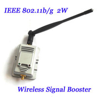 Wholesale New W b g WiFi Wireless Broadband Amplifiers Router Power Range Signal Booster with Antenna