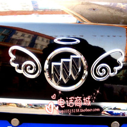 100PCS LOT 3d Funny Bumper Stickers Angel Wings gold silver red Cheap cool car decals From China