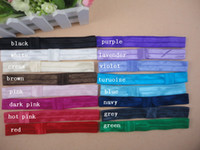 Wholesale Shimmery Headbands Shimmer Fold Over Satin Elastic Stretchy Baby FOE Headband