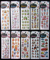 Wholesale Sheets D Baby Room Decorative mix Stickers Cartoon Charac Free shippin