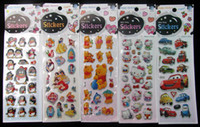 Wholesale 200pc Mixes Cartoon Sponge Sticker For Christmas Gift and Home Decoration Puffy Sticker home Sticker