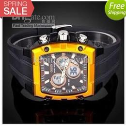 Choix de sports à vendre-Carré d'Or Valeur Choix Ohsen numérique Rim PU Strap Men Sport Watch alarme