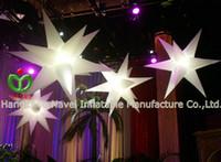 white inflatable christmas - 1 m lighting inflatable star RGB light colors