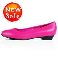 Women Red Wedges spring sale women's Office boots girls Dress shoes sandals sheepskin waterproof wax skin wedges red