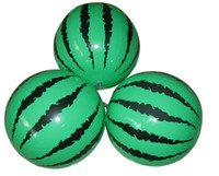 Wholesale 25cm Beachball watermelon inflatable ball simulation toy beach ball mix spurious with genuine