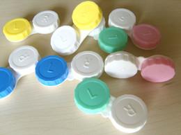 Wholesale 10 pairs Contact Lens Case Color Dual Box Double Case Lens Soaking Case