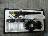 Air Brush Hobby Airbrush Paint Spray Gun Tool Kit Set New Go...