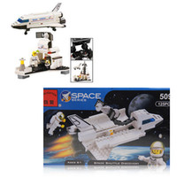 Wholesale 509 Wonderful Plastic Space Shuttle Discovery Model Building Blocks Toy for Children White