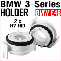 Wholesale 10 PAIRS PAIR H7 XENON HID BULB ADAPTERS HOLDERS FOR BMW SERIES E46 E65 E90 i