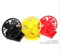 Wholesale Mini Solar Clip Fan Cell Fan Sun Power energy Clip on Cooling Cap Fan Cooler