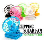 Wholesale New in MINI cliping solar fan cooler cap rechargeable solar fan with storage battery cell fan