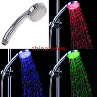 Wholesale LED Temperature Control Color Changing Colorful LED Shower Head wiht led