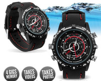Wholesale DVR waterproof Sport video camera Watch Spy camera V6 Build in GB Video Recorder