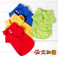 Wholesale Hot T shirt pet clothing dog clothes clothes Teddy red blue