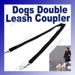 Wholesale 180PCS Two Way Double Leash Coupler Walk Dog Lead Black