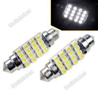Wholesale 2 mm LED Super White Festoon Dome SMD3528 Car Bulb Lamp Light