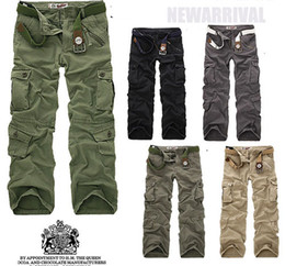 Wholesale 2012Hot sell menPants leisure time pants many pocket big overalls
