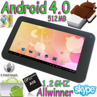 7 inch android market store - 2pcs quot Allwinner A10 Android Tablet pc boxchip Capacitive touch Webcam market google play store
