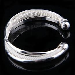 Top Sale New Mesh 925 Bangle Bracelet ,925 Silver Fashion Jewelry Open Cuff Bangle 50pcs Free Shipping