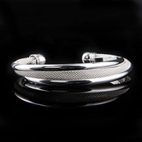 Wholesale Por Pretty Women s Silver Mesh Bangle Bracelet Elegant Good Selling Cuff Bangle