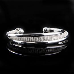 Wholesale Por Pretty Women s Silver Mesh Bangle Bracelet Elegant Good Selling Cuff Bangle