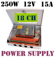 Wholesale CCTV power supply box CH V A W monitor power supply switch power supply DHL
